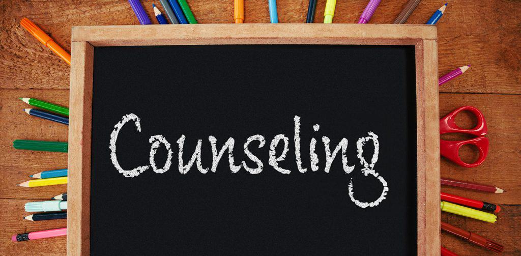 counseling written in chalk