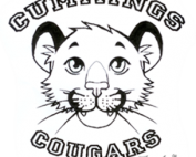 Cummings Cougars sketch in black & white