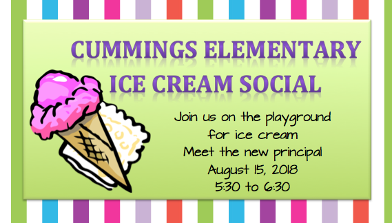 Ice cream social invite