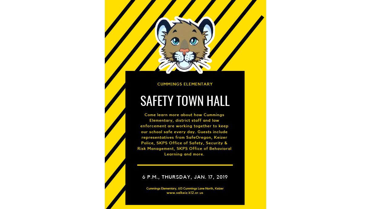 Cummings Elementary Safety Town Hall / Ayuntamiento de seguridad de la Escuela Primaria Cummings